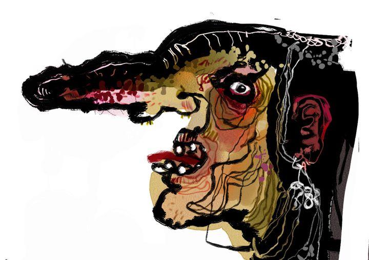 La Sorcière de Blanche Neigede Christian Lacroix.Peinture digitale  (DR)