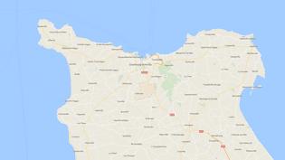 Carte de localisation deTollevast dans la Manche. (GOOGLEMAPS)