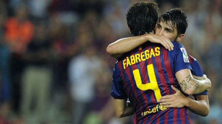La joie des Barcelonais Villa et Fabregas