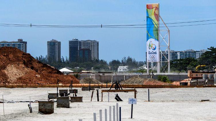 Le chantier de Barra de Tijuca, où sera édifié le parc olympique de Rio de Janeiro