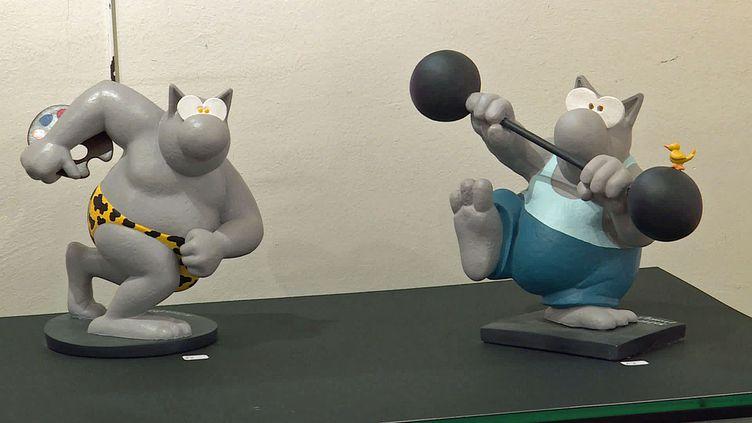Le chat célèbre personnage dePhilippe Geluck àla galerie Corinne Le Monnierdu Havre (France 3 Normandie)