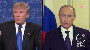 Donald Trump et Vladimir Poutine. (FRANCE 2)