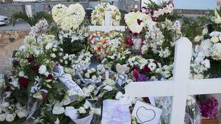 La tombe de Johnny Hallyday toujours refleurie, janvier 2018  (Helene Valenzuela / AFP)