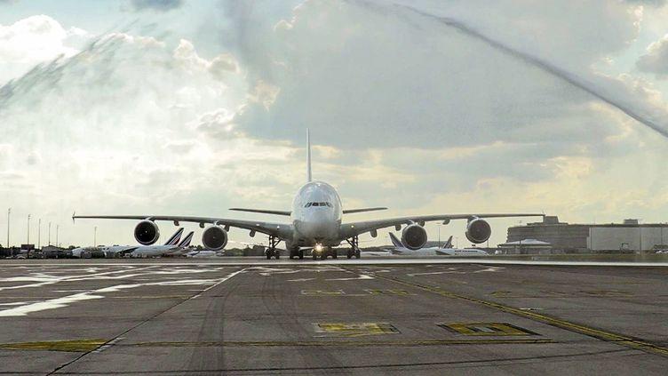 Un Airbus 1380 à l'aéroport Charles de Gaulle près de Paris, le 26 juin 2020. (AFP / AIR FRANCE)