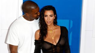 Kim Kardashian et Kanye West au MTV Video Music Awards en août 2016  (Hubert Boesl/DPA/AFP )