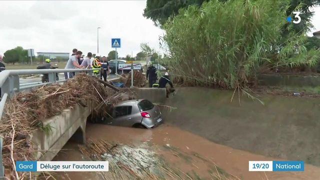 Intempéries dans le Gard : les automobilistes pris au piège