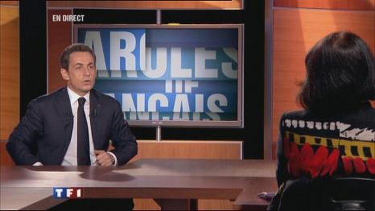 Nicolas sarkozy sur le plateau de TF1, le 10/2/11