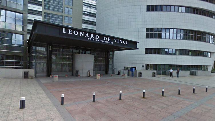 Le pôle universitaire Léonard-de-Vinci à Courbevoie (Hauts-de-Seine). (GOOGLE STREET VIEW)