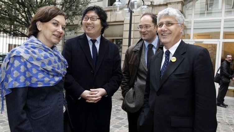 Negociateurs socialistes et écologistes (THOMAS SAMSON / AFP)