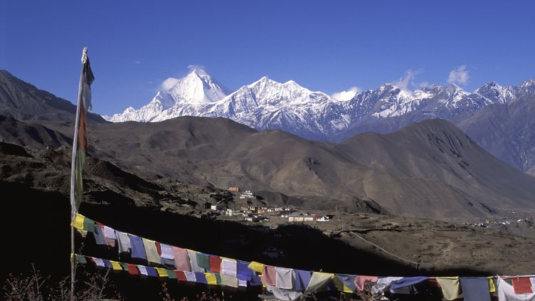 Le massif du Dhaulagiri, au Népal, le 8 octobre 2013. (ANA DUCOIN / AFP)