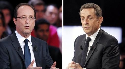 François Hollande et Nicolas Sarkozy (illustration) (THOMAS SAMSON / AFP)