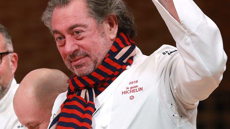 Bruno Verjus, chef du restaurant Table à Paris, lors de la cérémonie de remise des étoiles du guide Michelin, le 5 février 2018. (JACQUES DEMARTHON / AFP)