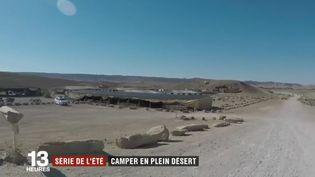 Le camoing de Mitzpe Ramon (Israël) en plein désert (Capture d'écran France 2)