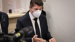 Le maire de Nice, Christian Estrosi, le 7 janvier 2021. (ARIE BOTBOL / HANS LUCAS / AFP)