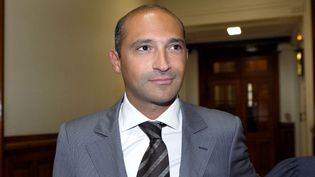 Thomas Fabius, lors de son arrivée au tribunal de grande instance de Paris, le 1er juin 2011. (BERTRAND GUAY / AFP)