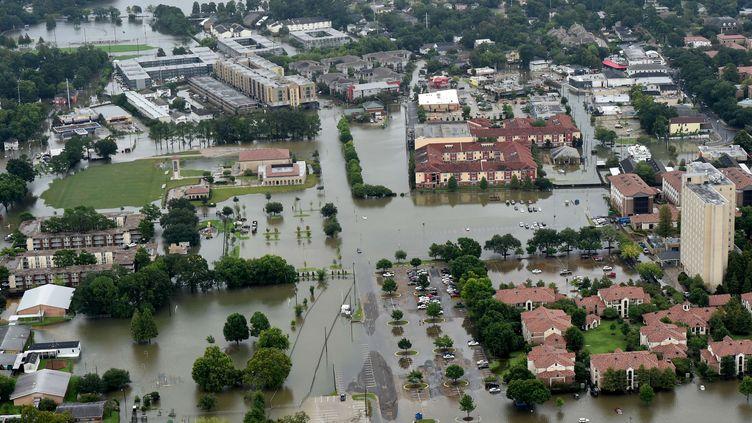 Une vue aérienne des inondations à Baton Rouge (Etats-Unis), samedi 13 août 2016. (PATRICK DENNIS / AP/ SIPA)