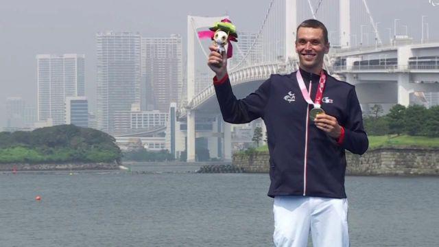 Pour la troisième fois depuis le début des Jeux paralympiques de Tokyo, la Marseillaise a retenti à Tokyo en l'honneur du triathlète Alexis Hanquinquant, médaillé d'or.