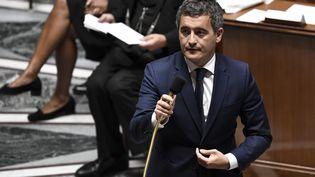 Gérald Darmanin, ministre de l'Intérieur, à l'Assemblée nationale, le 28 juillet 2020. (STEPHANE DE SAKUTIN / AFP)