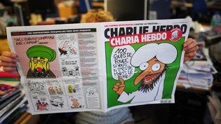 Couverture d'un numéro de Charlie Hebdo sorti lors de la victoire d'Ennahda à la présidentielle tunisienne en 2011. Il avait promis d'appliquer la Sharia comme source législative pri,ncipale dans le pays.  (MARTIN BUREAU / AFP)