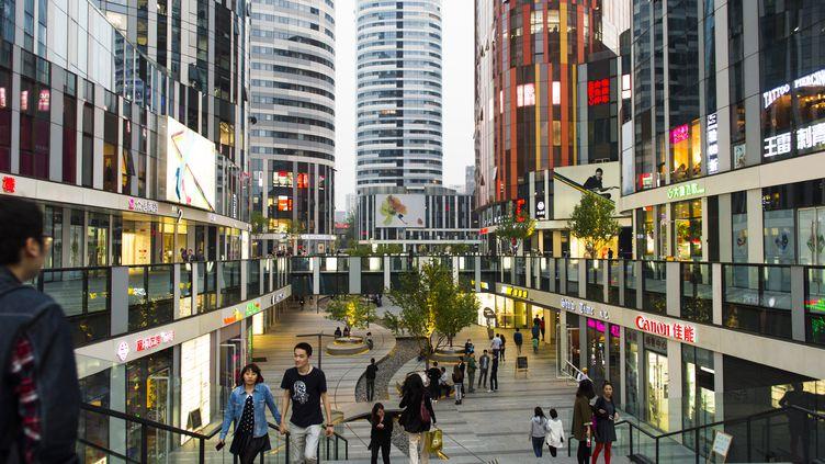 Le quartier deSanlitun àPékin (Chine), où a eu lieu l'agression. (CHRISTOPH MOHR / PICTURE ALLIANCE / AFP)