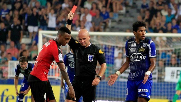 Brandao a été expulsé à la 78e minute lors de Bastia-Rennes.