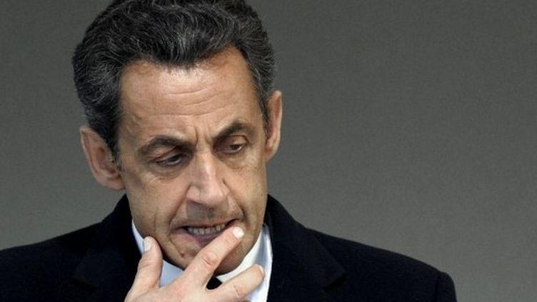 Nicolas Sarkozy va porter plainte contre Mediapart. (PHILIPPE WOJAZER / AFP)