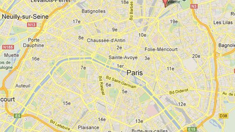 L'accident s'est produit avenue de Flandre, dans le 19e arrondissement de Paris (capture d'écran). (GOOGLE MAPS / FTVI)