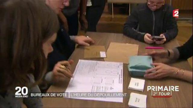 Primaire de la gauche : l'heure du dépouillement dans les bureaux de vote