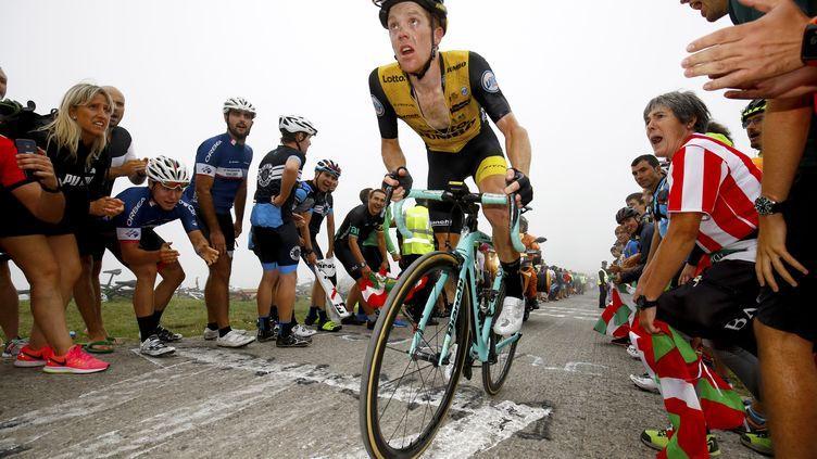 3e du dernier Tour de France, Steven Kruijswijk inquiète son équipe après une chute sur le Dauphiné. (BETTINI LUCA / BETTINIPHOTO)