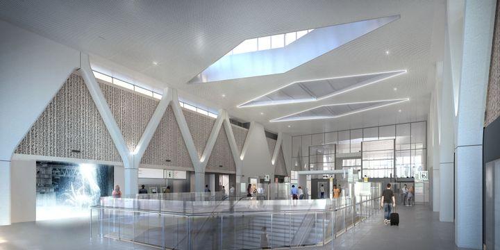 Projet de la gare d'Ardoines par Hicham Berrada et Denis Valode  (ARCHI GRAPHI VALODE/PISTRE HICHAM BERRADA)