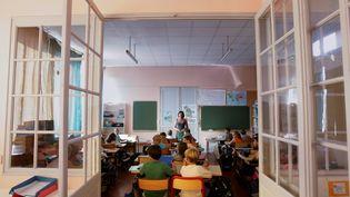 Lasalle de classe d'une école primaire de Marseille, le 2 septembre 2008 lors de la rentrée scolaire. (MAGNIEN PATRICE / MAXPPP)
