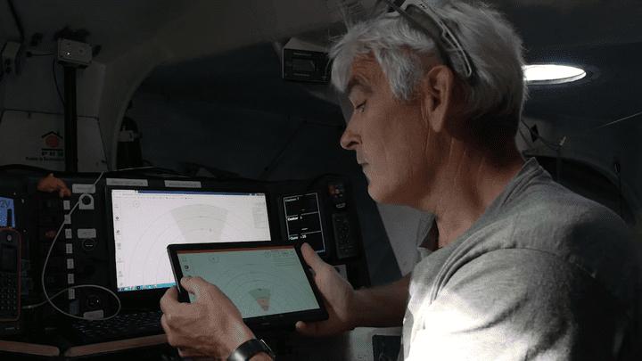 Le skipper Vincent Riou a essayé le système Oscar dès les phases de test.