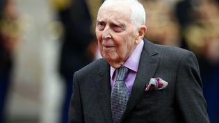 DanielCordier,résistant et ancien secrétaire de Jean Moulin au Palais de l'Élysée, le 13 mai 2017. (ALEXANDRE MARCHI / MAXPPP)