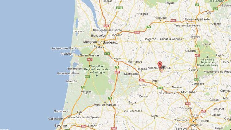 Le 3 juillet 2012, le corps sans vie d'un agriculteur de 53 ans avait été retrouvé dans un hameau de Villeneuve-sur-Lot (Lot-et-Garonne). (CAPTURE GOOGLE MAPS)