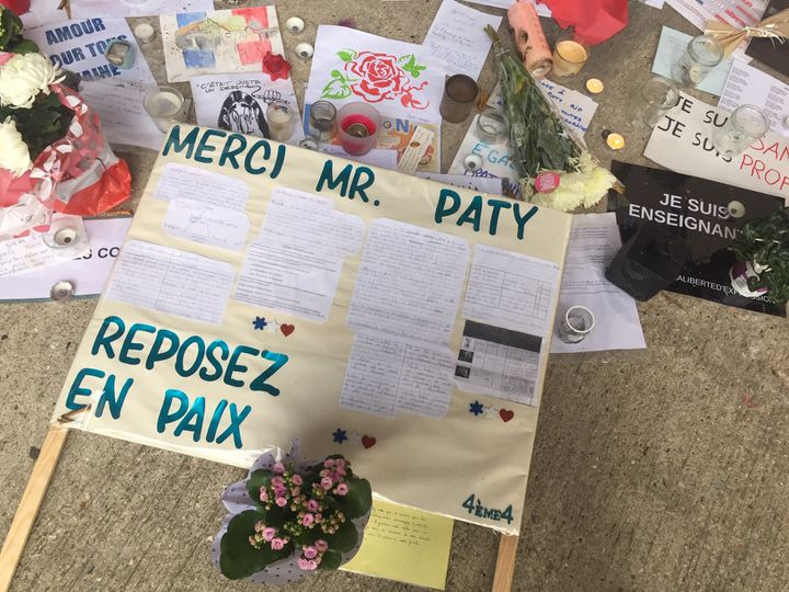 Au collège du Bois d'Aulne à Conflans-Sainte-Honorine, le 30 octobre 2020. (KACHANER ALICE / FRANCE-INFO)