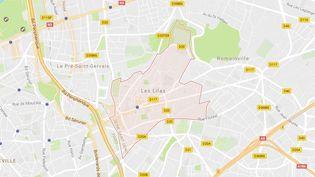L'Inspection générale de la police nationale (IGPN) a été saisie après la diffusion d'une vidéo montrant des policiers frappant un homme à terre aux Lilas (Seine-Saint-Denis). (GOOGLE MAPS)