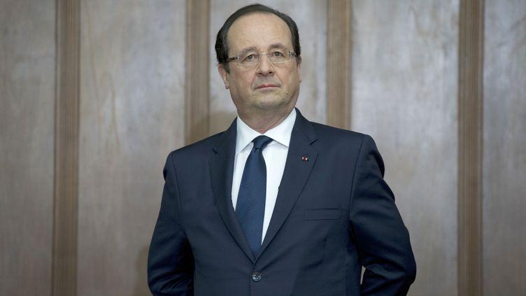 François Hollande le 13 décembre 2013 à Sao Paulo (Brésil). (ALAIN JOCARD / AFP)