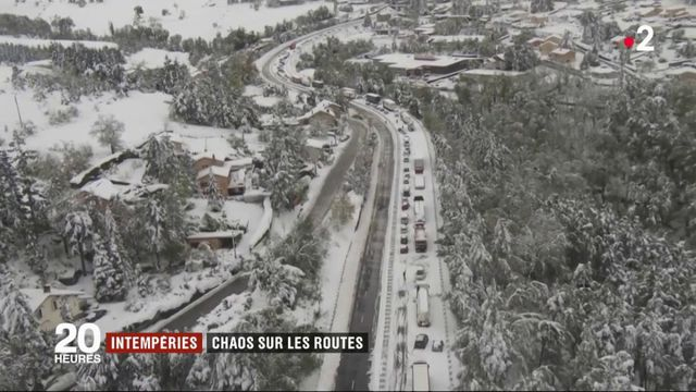 Chaos sur les routes à cause de la neige