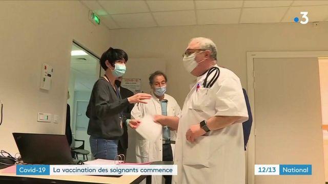 Covid-19 : les soignants vaccinés