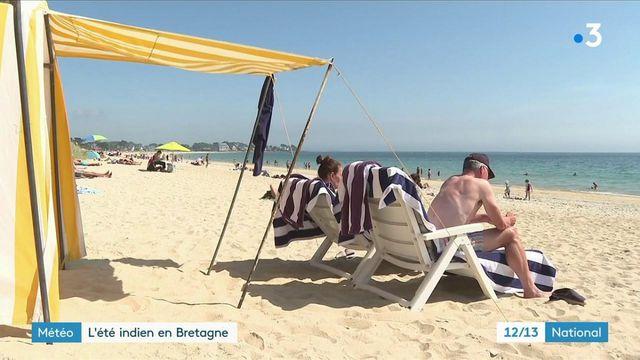 La Bretagne profite d'une météo ensoleillée lundi 6 septembre. Le beau temps ravit les touristes, après un été plutôt difficile.