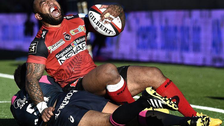 Lors du match aller Oyonnax s'était imposé 25-12 sur son terrain. (JEFF PACHOUD / AFP)