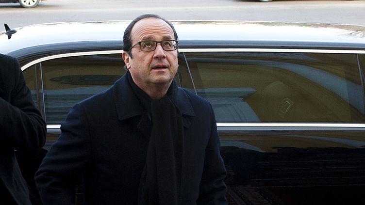 François Hollande au Kzakhstan, le 6 décembre 2014. (ALAIN JOCARD / AFP)