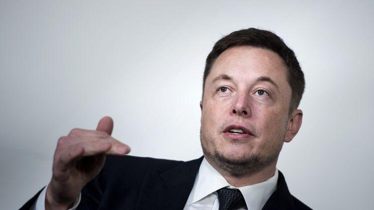 Elon Musk, PDG et fondateur de Tesla et SpaceX, lors d'une conférence à Washington (Etats-Unis), le 19 juillet 2017. (BRENDAN SMIALOWSKI / AFP)