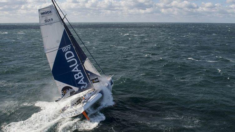 Dominique Wavre à bord de Mirabaud (VINCENT CURUTCHET / DPPI)