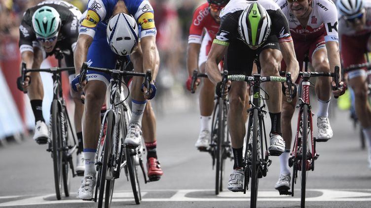 Edval Boasson Hagen battu d'un souffle par Marcel Kittel (JEFF PACHOUD / AFP)