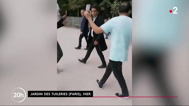 """14 juillet : vif échange entre Emmanuel Macron et des """"gilets jaunes"""""""