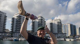 Le Britannique Lee Spencer, le 8 mars 2019, à Gibraltar. (JORGE GUERRERO / AFP)
