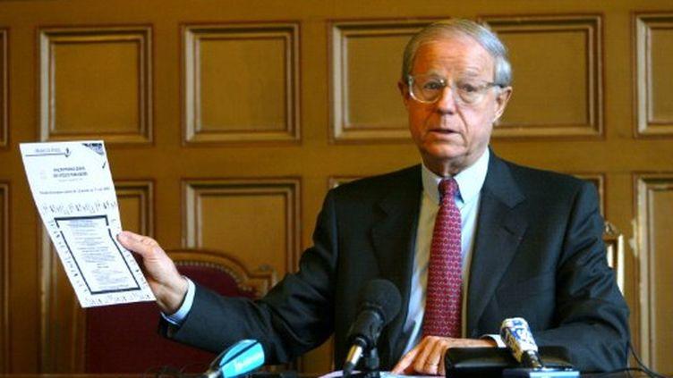 Renaud Galy-Dejean , le 4 janvier 2002 (AFP/PHILIPPE DESMAZES)