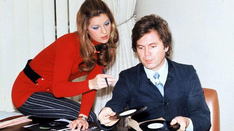 Claude Carrère avec Sheila dans les années 1970  (Christian Deville/SIPA)
