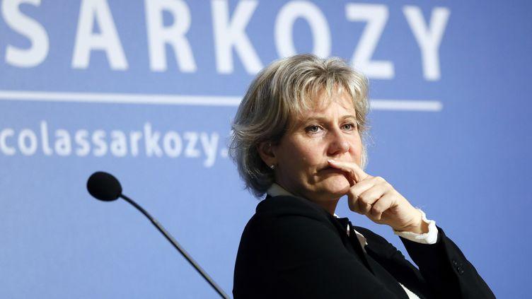 """Nadine Morano, lors d'un meeting de l'association """"Les amis de Nicolas Sarkozy"""", le 20 février 2013, à Paris. (PATRICK KOVARIK / AFP)"""